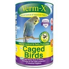 Verm-x herbal pellets for caged birds
